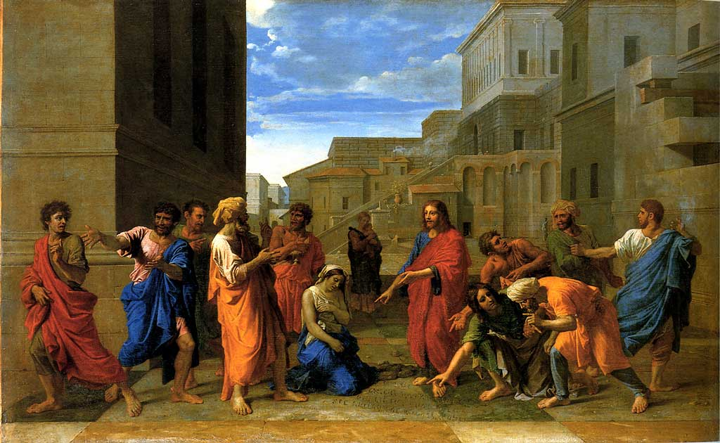 Christ and the Woman Taken in Adultery, Poussin (1653)
