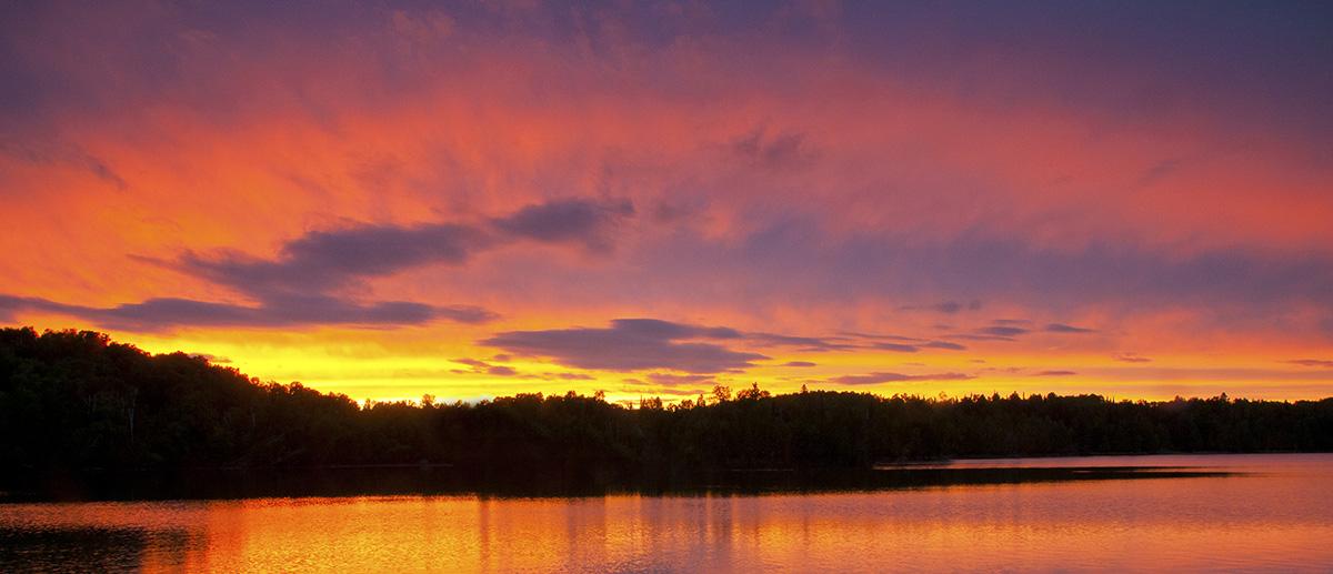Sunset On Hatch Lake