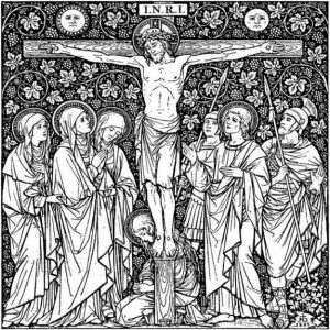 Crucifixion_woodcut